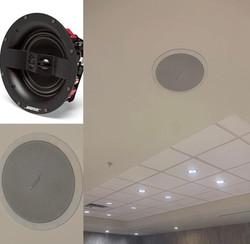 Bose speaker installation in Commack.