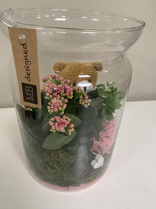 Glaswerk met beer
