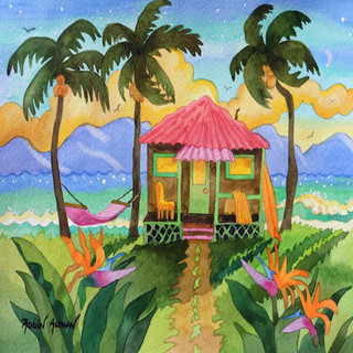 Tropical House Pink Roof