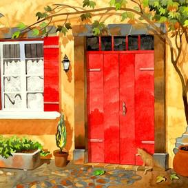 Red Door in Provence