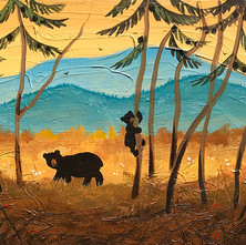 Bears at the Edge of the Woods