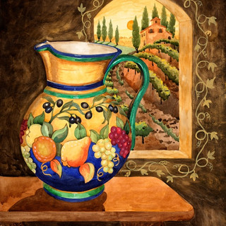 Italian Pitcher with Pears