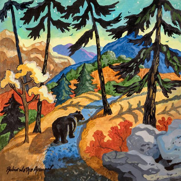 Black Bear on the Trail