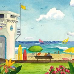 Lifeguard Stand at Main Beach