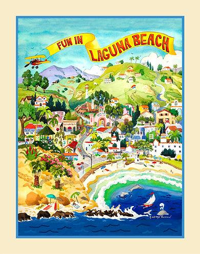 Laguna Beach Poster Original