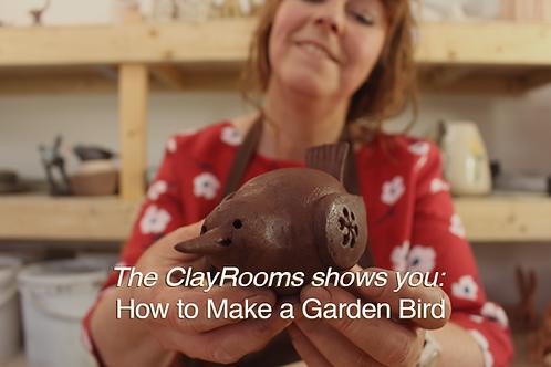 The ClayRooms shows you: How to Make a Garden Bird