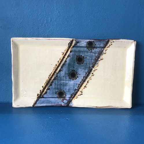 Russell Kingston Blue and White Tray