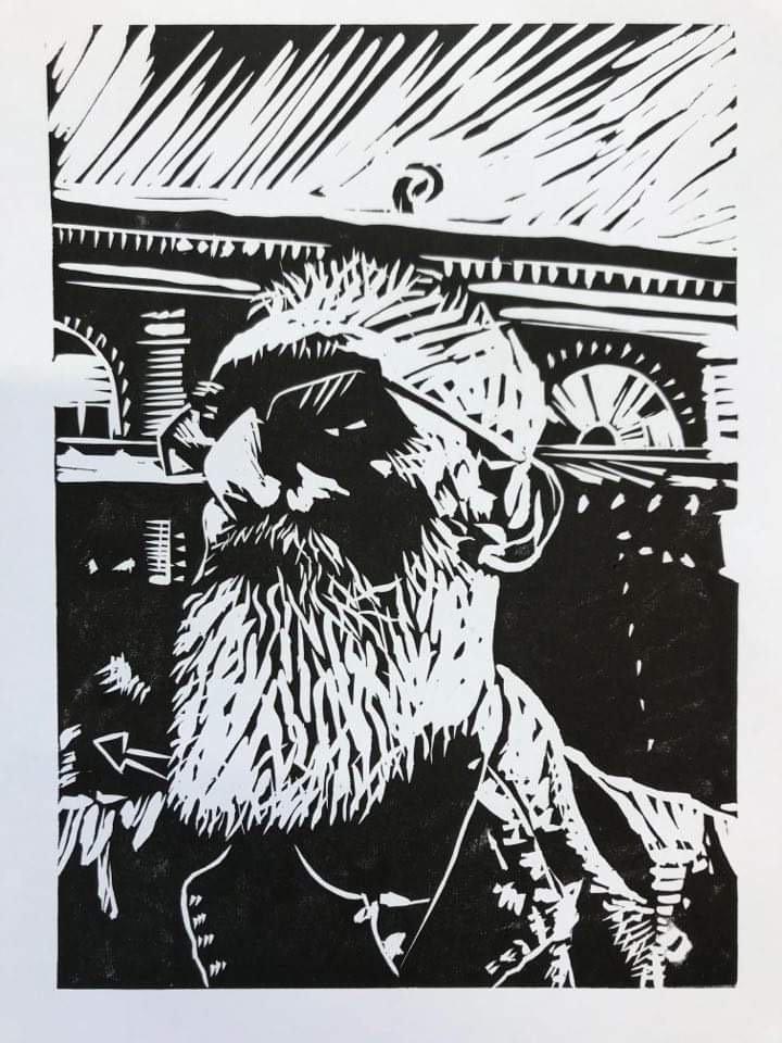 Linoprint workshop Graeme Reed 20-8-21