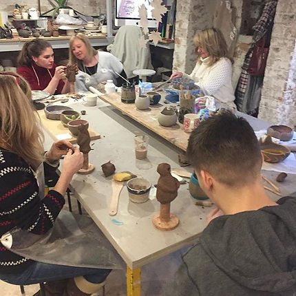 Another great afternoon pottery party ,