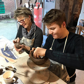Mum and son making this afternoon, our w