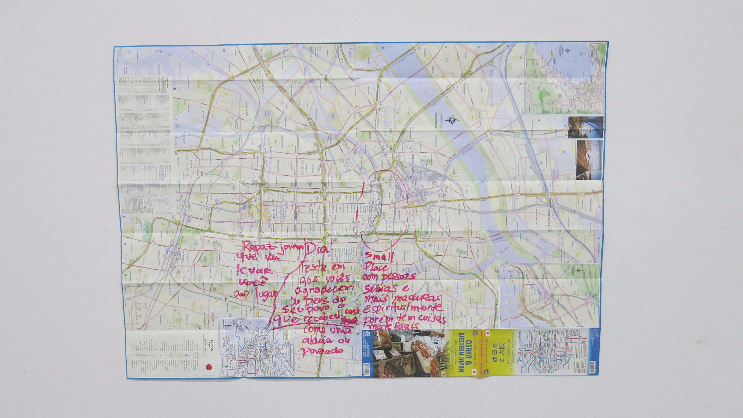 2. Map of Osaka with memo