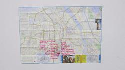 2. Map of Osaka with memo