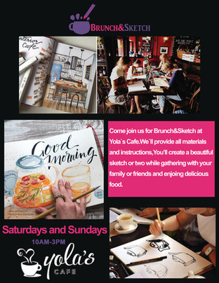 Brunch&Sketch flyer design