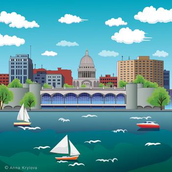 Madison illustration