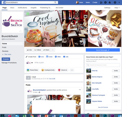 Brunch&Sketch FB ad design