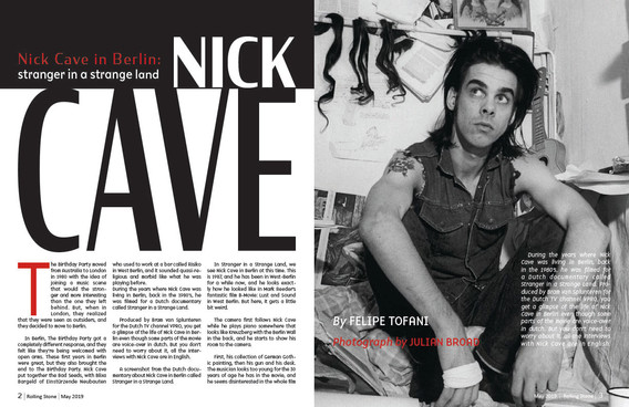 Magazine spread design