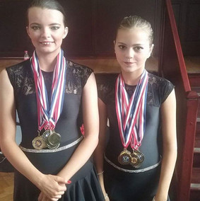 Maisie and Maddison competing in Newport