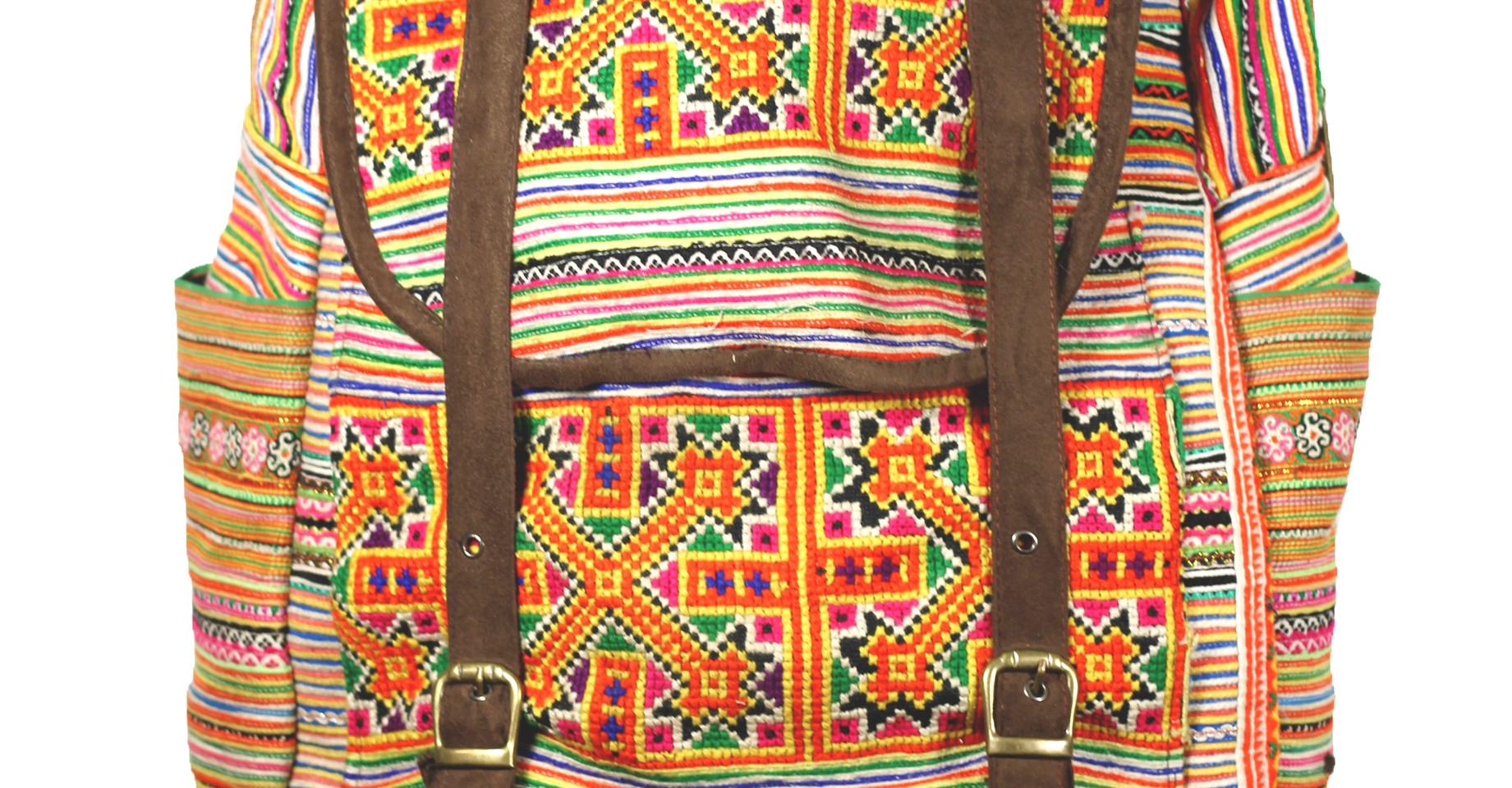 Sac a dos brodé Hmong