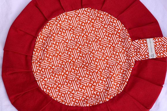 Zafu labyrinthe rouge