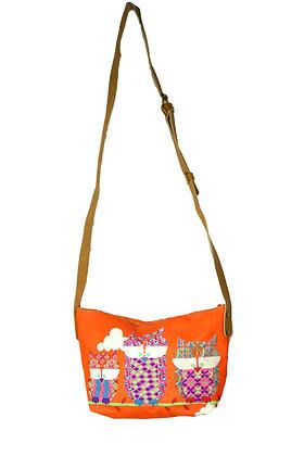 sac à main hiboux orange