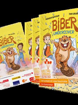 """Im Lesefieber: Die Stammgruppe Marienkäfer 3/4 liest das Welttagsbuch 2021 """"Biber undercover"""""""