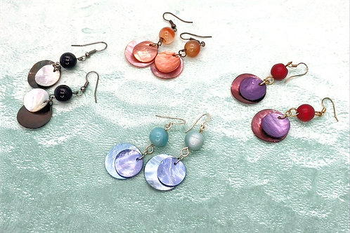 Double Take Mother of Pearl Earrings