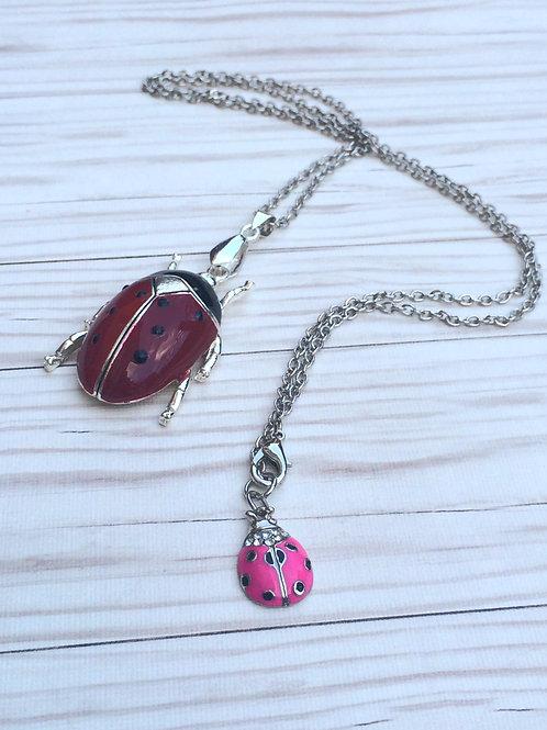 Lovely Ladybugs Necklace