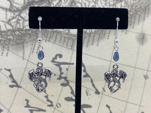 Ice Dragon Earrings