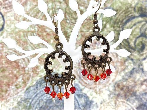 Fiery Swarovski Earrings