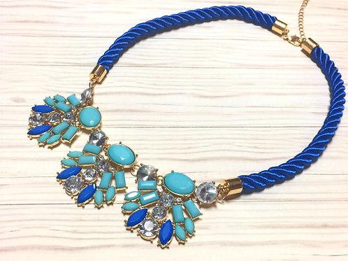 Blingin' Blue Rope Necklace