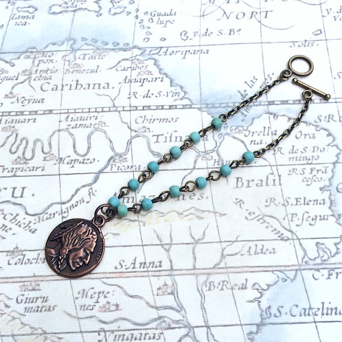 Indian Copper Head Bracelet