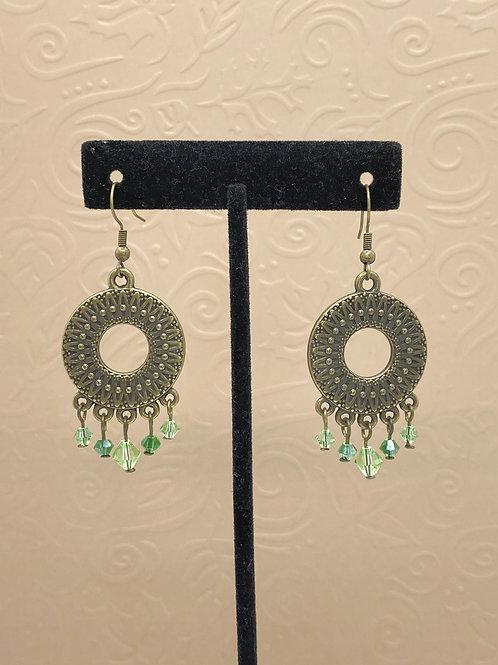 Embossed Circle Earrings