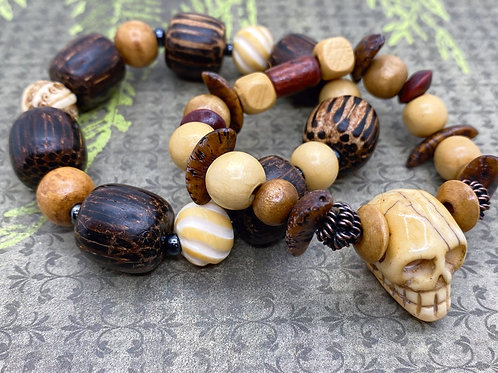 Skull & Barrel of Bones Bracelets
