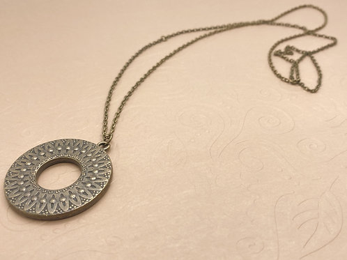 Embossed Circle Necklace