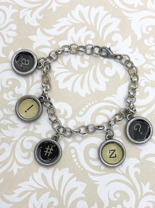 Typewriter Bracelet