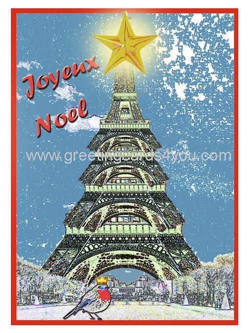 5720150019x - Eiffel Christmas tree