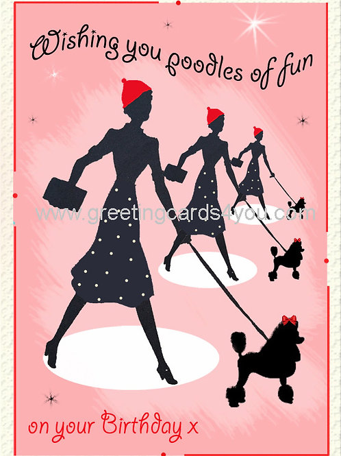 5720150056 - Poodles of fun on your birthday