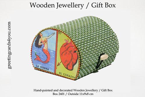 Wooden Memento/Jewellery Box - 2401