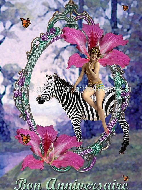5720130103FR - Bon Anniversaire (zebra)