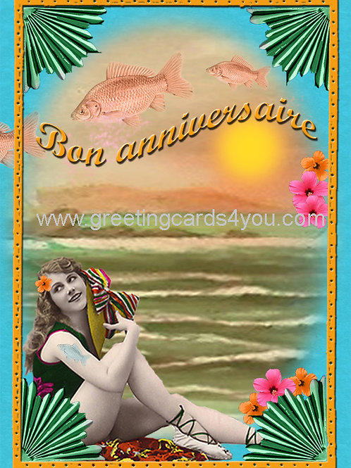 5720150006FR - Bon Anniversaire (birthday fishes)