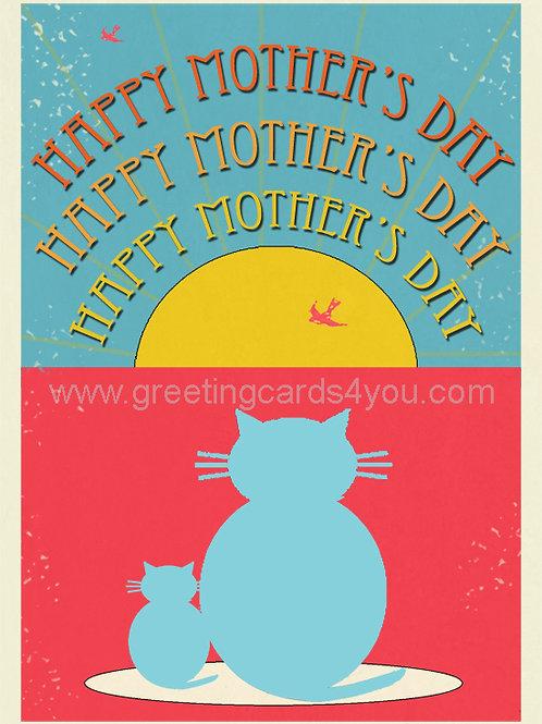 5720190002 - Happy Mother's Day (Mumma Cat)