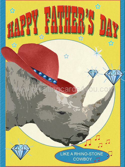 5720160007 - Happy Father's Day (like a rhino-stone cowboy)
