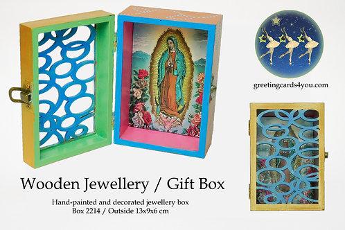Wooden Memento/Jewellery Box - 2214