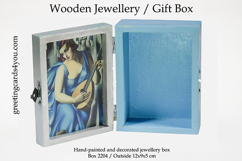 Wooden Memento/Jewellery Box - 2204