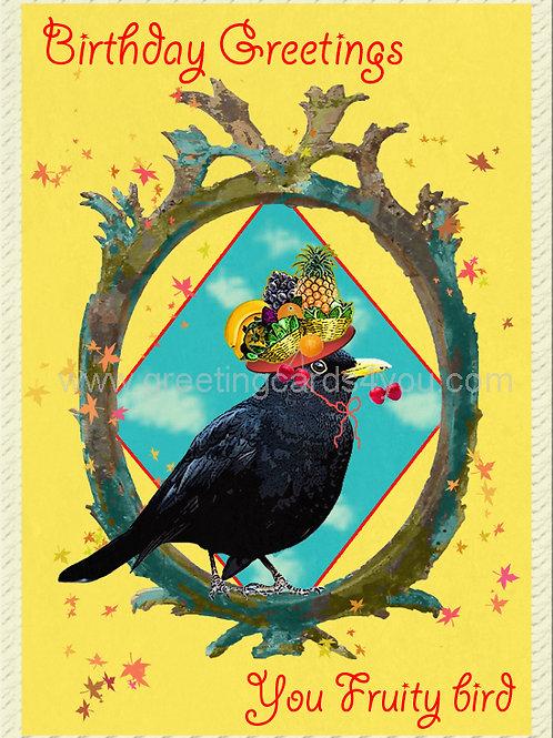 5720160023 - Birthday Wishes to a Fruity Bird