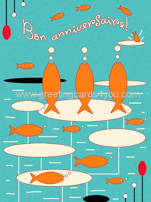5720150064FR - Bon Anniversaire (fishes)