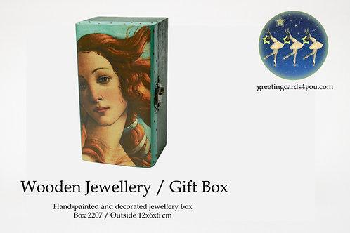 Wooden Memento/Jewellery Box - 2207