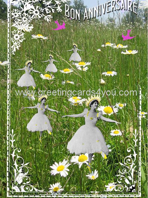 5720130101FR - Bon Anniversaire (daisies)