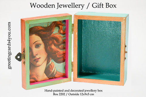 Wooden Memento/Jewellery Box - 2202