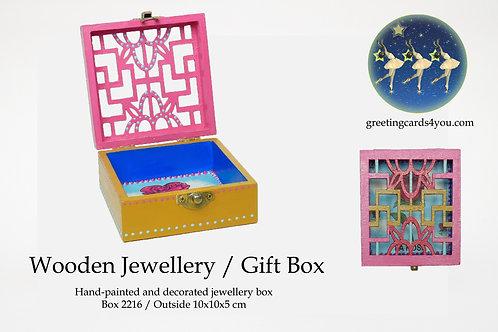 Wooden Memento/Jewellery Box - 2216